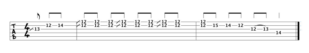 The Johnny B. Goode intro in E (tab)